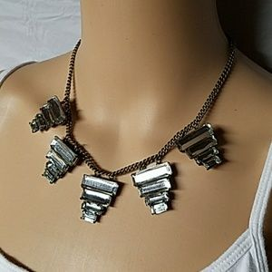 Mirrored Geoshaped Statement Necklace